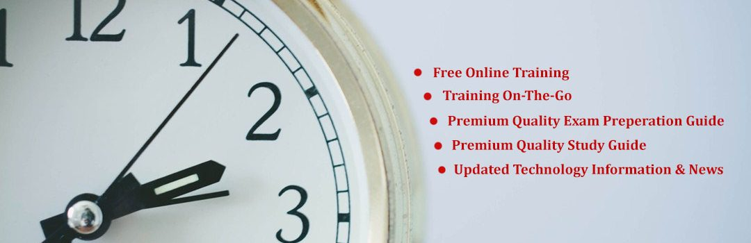 CertGuidance, Cert Guidance, Clock, Running Clock, Free Online Training on Leading Technology & Certification, NEWS Update